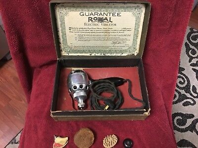 1911 Royal Electric Vibrator Medical Device Complete Original Box