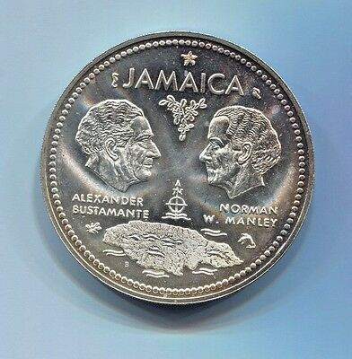 Jamaica-Fantastic Rare Silver 10 Dollars 1972, 10Th Anniversary Of Independence