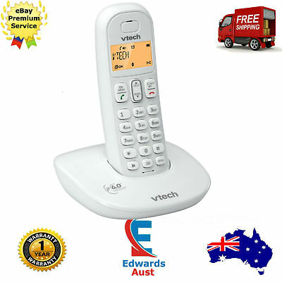 Cordless Phone One Handset White Hands Free VTech 15300DECT6.0