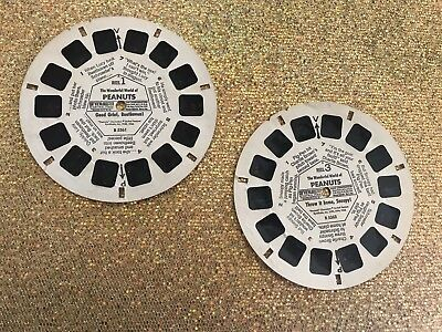 View Master Reels Lot Of 2 The Wonderful World Of Peanuts Snoopy