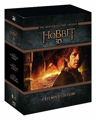 The Hobbit Trilogy 3D - Extended Edition: New True 3D Blu-Ray Box Set