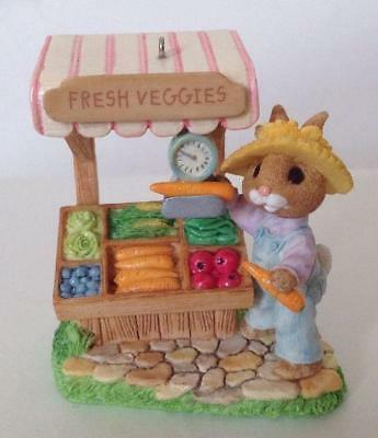 1997 Farmers Market Tender Touches Bunny Hallmark Ornament