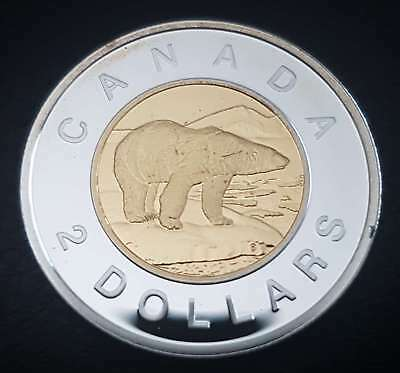 2003 Canada $2 Toonie Silver Proof with 24k Gold Plated