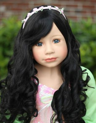 "Wig By Masterpiece Dolls 48"" Sleeping Beauty Black(WIG ONLY-DOLL NOT INCLUDED)"