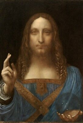 Salvator Mundi, Da Vinci,  Original Painting Print on Canvas, Giclee Print, HQ
