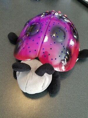 Plush Night Light Cloud B Twilight Ladybug. Projects red, green or blue stars.