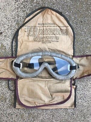 US WW2 WWII Polaroid Goggles , full kit GI United States Army Jeep Tanker