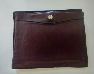 GOLDPFEIL TRAVEL WALLET VINTAGE Burgundy Leather PASSPORT