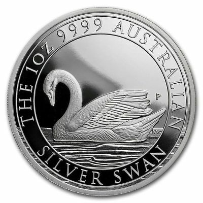 2017 Australia 1 oz Silver Swan Proof (w/Box & COA) Only 2,500 Minted