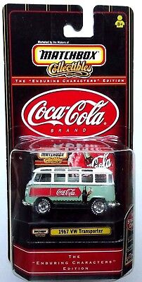 1999 Matchbox Collectibles Coca Cola Brand 1967 Vw 21 Window Transporter Bus