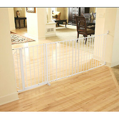 """Regalo Extra Wide Baby Gate, 59"""" with Walk Through Door and Safety Lock"""