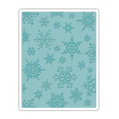 Sizzix - Tim Holtz - Texture Fades Embossing Folder Simple Snowflakes 662432