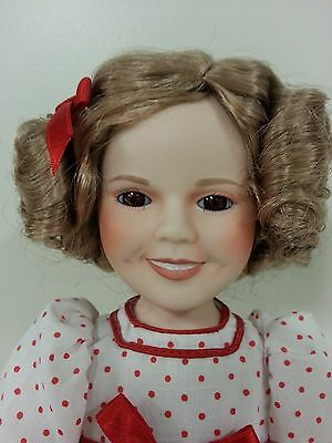 "Shirley Temple porcelain 14"" doll"