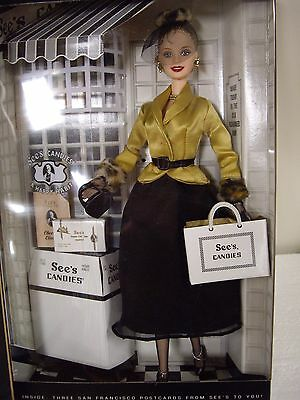 """Barbie,"""" I Left My Heart In San Francisco""""2001 Special Edition, See's Candies"""