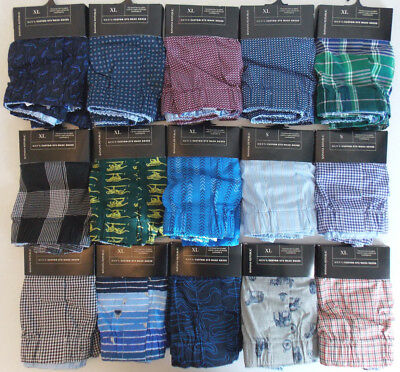 Banana Republic Men's 100% Cotton Woven Boxer Prints Plaids Size S,XL NWT