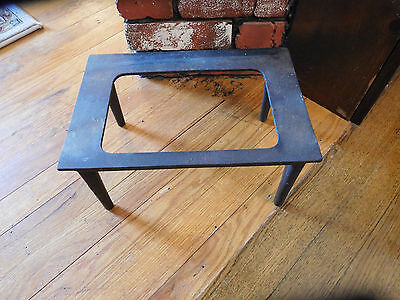 Antique Vtg Cast Iron Fireplace Log Holder Stand 8 x 12 Marked C& B or G & B