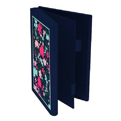 Double Sided Card/Gift Card/Credit Card/Money Case-Wellspring-Navy Floral #2553