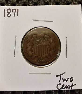 1871 Two Cent Piece!