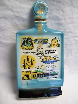 Vintage Jim Beam Decanter Discover New Mexico 1960's Empty