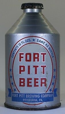 Fort Pitt Beer Cone Top Crowntainer with correct cap