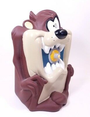 1997 Looney Tunes TAZ Tasmanian Devil Safe Piggy Coin Bank Warner Bros Applaus