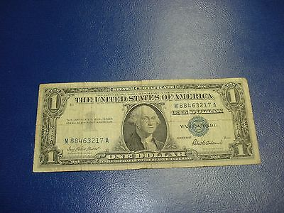 1957 - USA $1 bill - one dollar Silver Certificate - circulated - M88463217A