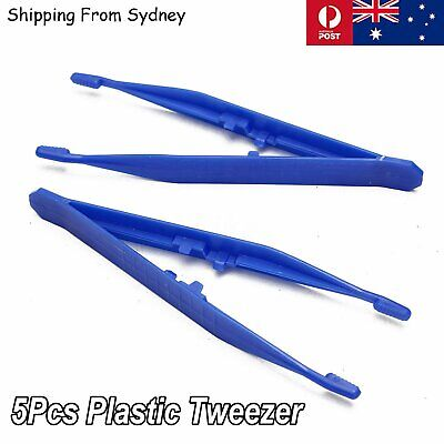 5Pcs Plastic Tweezers Antistatic Tweezer Pickup Heat Resistant Repair Tool Tools