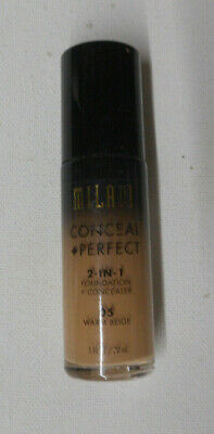 MILANI CONCEAL + PERFECT 2 IN 1 FOUNDATION + CONCEALER 05 WARM BEIGE unsealed