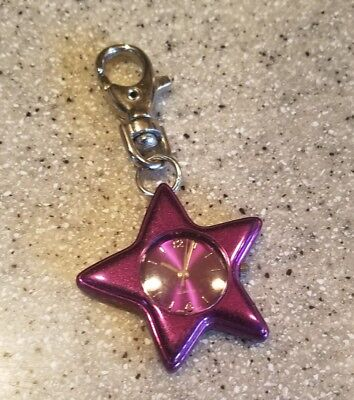 Pink/purple Star Novelty Watch Quartz Battery Key Chain