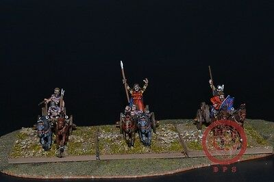 1/56 28mm DPS Painted Ancient Gallic or Celtic Chariots 5006