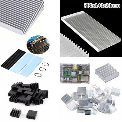 1-30Pcs Raspberry Pi 2 Aluminium Heatsink Kit Fans Heat Sink Cooling Silver