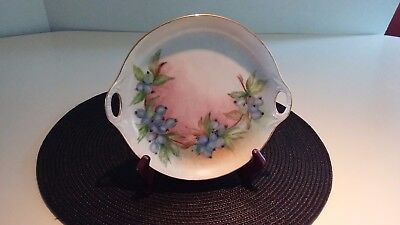 Hand Painted Porcelain Decorative Plate Blueberries Artist Signed
