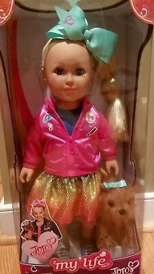 """Jojo Siwa Doll My Life as 18"""" - withdog NEW IN BOX-HARD TO FIND"""