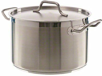 Update International (SPS-12) 12 Qt Induction Ready Stainless Steel Stock Pot