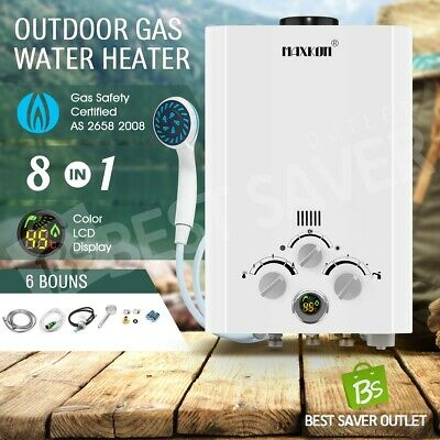 MAXKON Gas Hot Water Heater Portable 4WD Outdoor Instant Shower Camping LPG