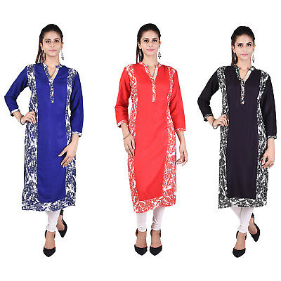 Indian latest Style Cotton MultiColour Kurti Stylish TopTunic Women