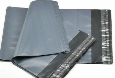 """50 BAGS - 10"""" x 14"""" STRONG POLY MAILING POSTAGE POSTAL QUALITY SELF SEAL GREY"""