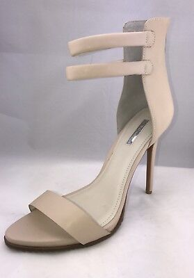 ecb30fc40cda BCBGeneration Women s Beige Leather Ankle Strap Heeled Sandal size ...