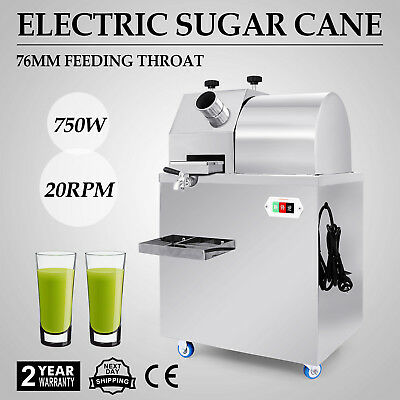 Electric Stainless Steel Juicer Sugar Cane Press Juicer Juice Machine 304