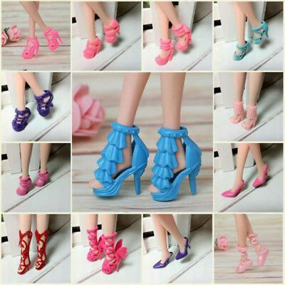80pcs 40 Pairs Different High Heel Shoes Boots For Barbie Doll Dresses Clothe