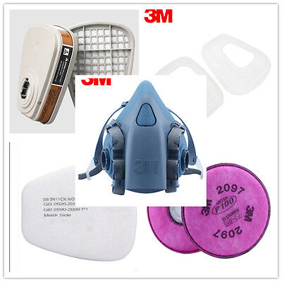 9 in 1 7502 Respirator Filter Cotton /Cartridge Painting Spraying Face Gas Mask
