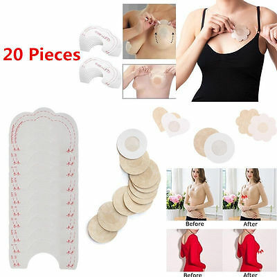Brest Instant Invisible Bra Lift Up Shaper Adhesive Tape Nipple Cover   **UK**