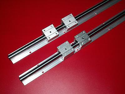 20MM SBR20-800mm LINEAR SLIDE GUIDE SHAFT 2 RAIL+4 SBR20UU BEARING BLOCK CNC set