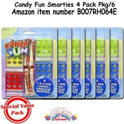 (Pack of 1, Multycolored) - Candy Fun Smarties Tic Tac Toe Party Favours 4 Pack