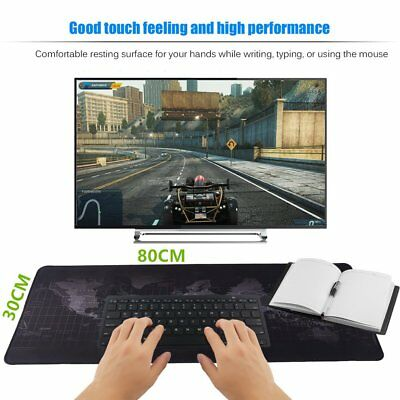 80 x 30cm Large World Map Mousepad Game Laptop Computer Keyboard Mouse Pad Mat