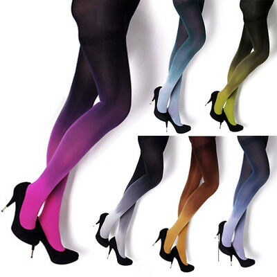 Women Gradient Color Tights Stocking Panties Pantyhose 6 Colors Long Stockings