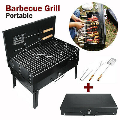 Portable Table Top Camping Fishing Outdoor BBQ Hibachi Barbecue Stove Cooker UK