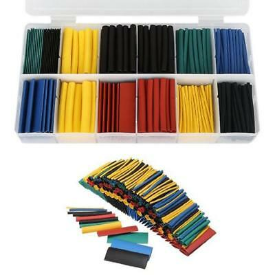 328 Pcs Heat Shrink Tubing Tube Assortment Wire Cable Insulation Sleeving Kit