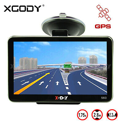 XGODY 560 5'' GPS Navigation for Car Lorry Coach HGV Navigator SAT NAV 8GB ROM