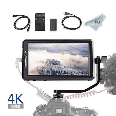Feelworld F6 5.7 inch On-Camera Monitor with 4K HDMI Input with F550 Battery